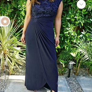LISA FLOOR LENGTH SOUTACHE SLEEVELESS DRESS